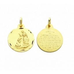 Medalla de San Francisco de oro de 18 quilates