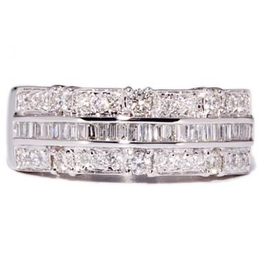 Anillos de oro blanco con 61 diamantes
