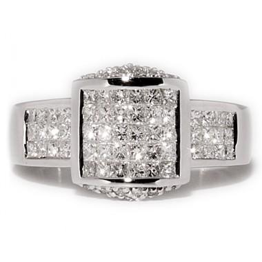 Anillos de oro blanco con 78 diamantes