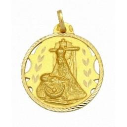 Medalla de la Virgen de las Angustias de oro de 18 quilates