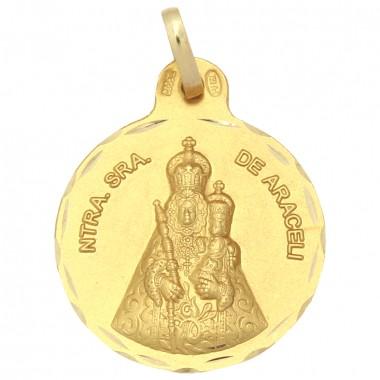Medalla de la Virgen de Araceli de oro de 18 quilates