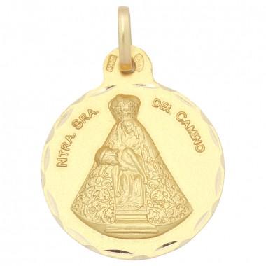 Medalla de la Virgen del Camino de oro de 18 quilates