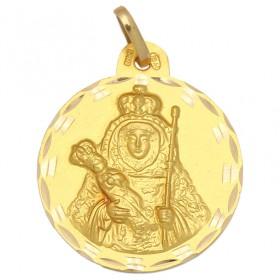 Medalla de la Virgen de la Candelaria de oro de 18 quilates