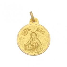 Medalla de la Virgen de la Cinta de oro de 18 quilates