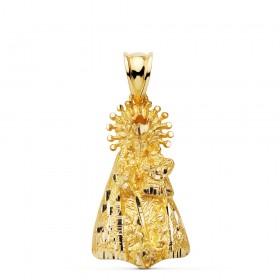 Medalla de la Virgen de los Desamparados de oro de 18 quilates