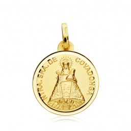 Medalla de la Virgen de Covadonga de oro de 18 quilates