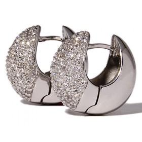 Pendientes de oro blanco con 216 diamantes