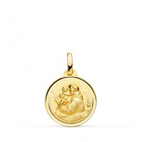 Medalla de San Antonio de oro de 18 quilates