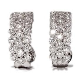 Pendientes de oro blanco con 50 diamantes