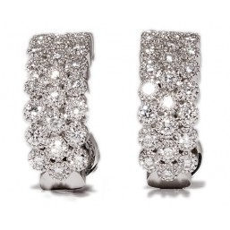 White gold earrings with 50 diamonds