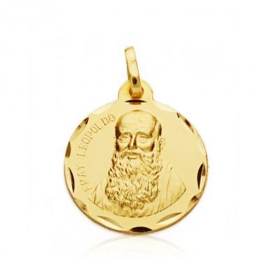 Medalla de Fray Leopoldo de oro de 18 quilates