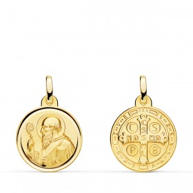 Medalla de San Benito de oro de 18 quilates
