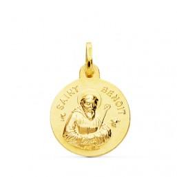 Medalla de Saint Benoit de oro de 18 quilates
