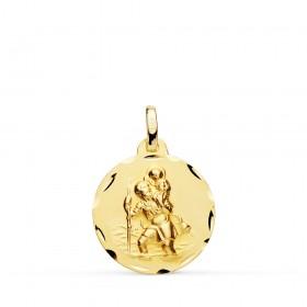 Medalla de San Cristóbal de oro de 18 quilates