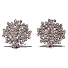 Pendientes de oro blanco con 150 diamantes