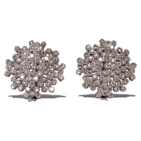 White gold earrings with 150 diamonds