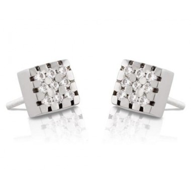 White gold earrings with 18 diamonds