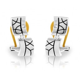 White gold earrings with 4 diamonds