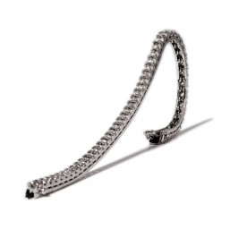 Riviere white gold bracelet with 52 diamonds