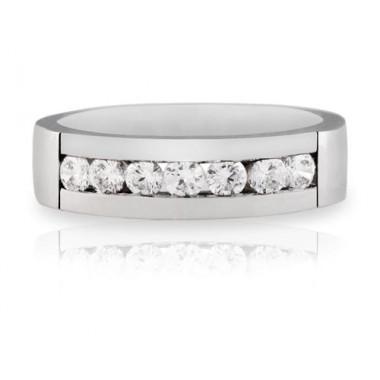 Anillos de oro blanco con 7 diamantes