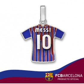 "Colgante camiseta Messi ""10"" en plata de primera ley"