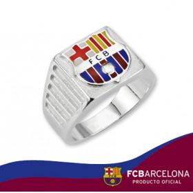 Sello escudo Barça en plata de primera ley