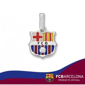 Colgante escudo Barça en plata de primera ley