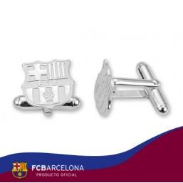 Gemelos escudo F.C. Barcelona en plata de primera