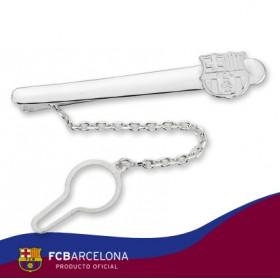 Aguja de corbata escudo Barça en plata de primera ley
