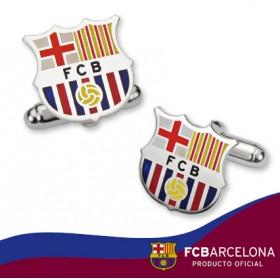 Gemelos escudo Barça en plata de primera ley