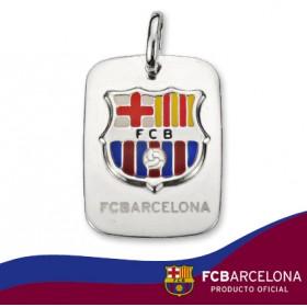 Colgante placa escudo Barça en plata de primera ley