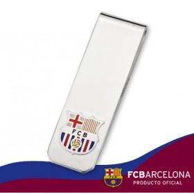 Billetero escudo Barça en plata de primera ley