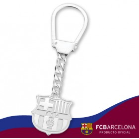 Llavero escudo Barça en plata de primera ley