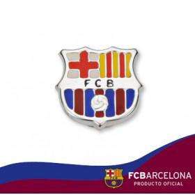 Pin escudo Barça en plata de primera ley