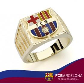 Sello escudo Barça en oro de primera ley
