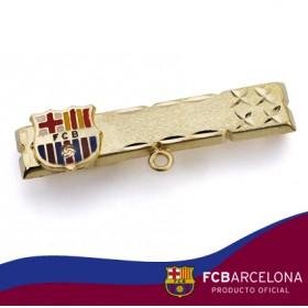 Alfiler de bebé con escudo Barça en oro de primera ley