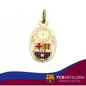 Medalla bebé con escudo Barça en oro de primera ley