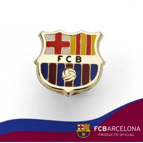 Pin escudo Barça en oro de primera ley