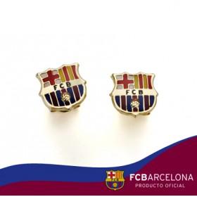 Pendientes escudo Barça en oro de primera ley