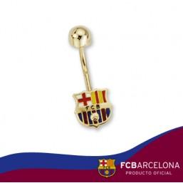Piercing escudo Barça en oro de primera ley
