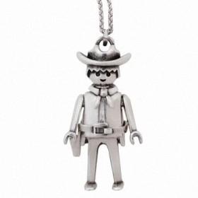 """Colgante Playmobil """"Cowboy"""" con cadena"""