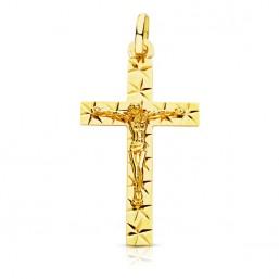 Cruz con Cristo de oro de 18 quilates