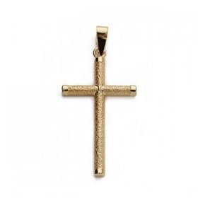 Cruz diamantada sin Cristo de oro de 18 quilates
