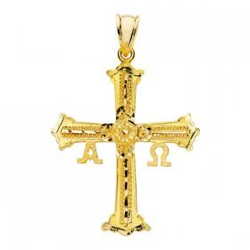 Cruz de Covadonga de oro de 18 quilates